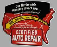 certified auto repair warranty logo