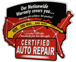 certified auto repair nationwide warranty logo
